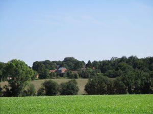 Dorf in der Picardie